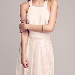NWOT Free People Sequin Pleat Apron dress